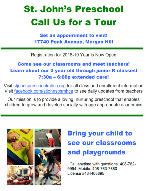 Preschool Tour Invite