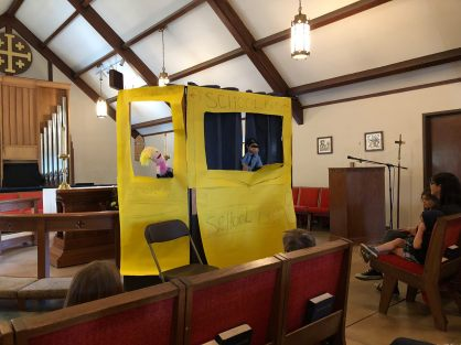 Bus Puppet show