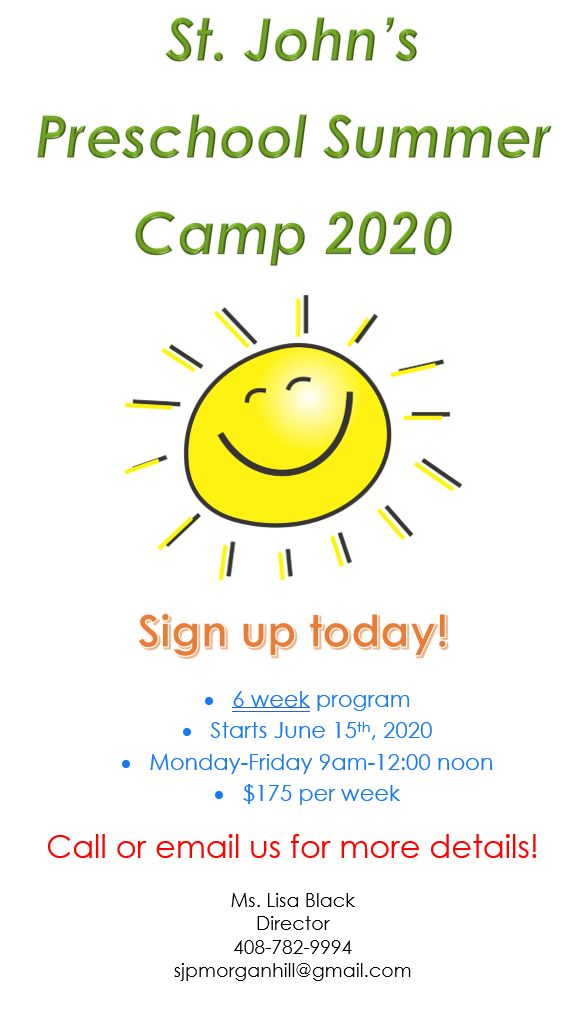 stjohn summer camp 2020