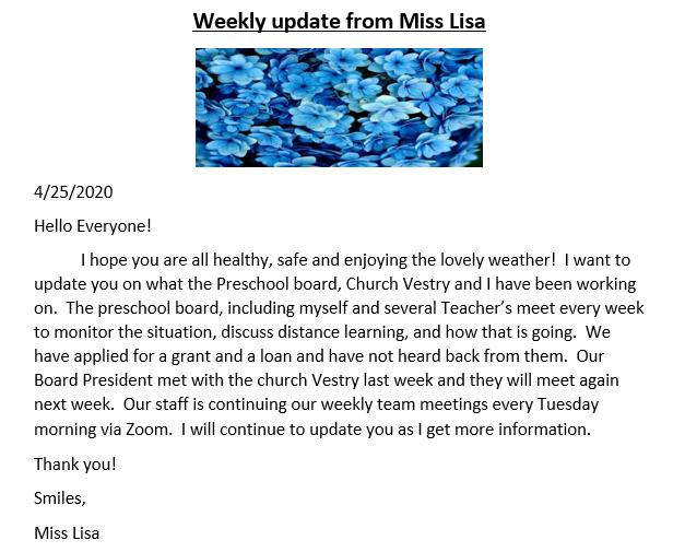 covid update 4-25 website